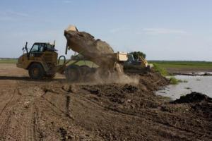 It has taken months for farmer Ed Marshall to repair land damaged by last year's devastating Mississippi River flooding. (Samantha Powers for Harvest Public Media)